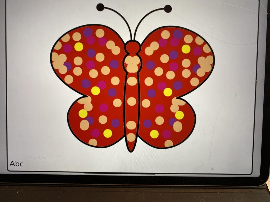Noah's lovely colourful butterfly.