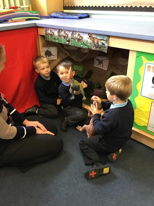 Exploring our dinosaur land