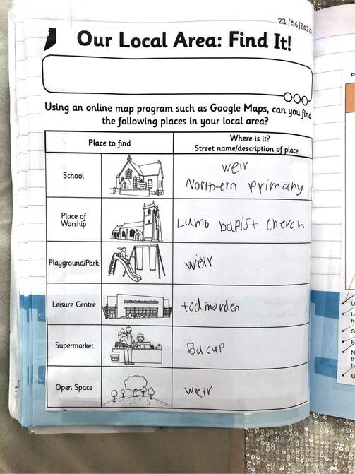 Lottie has done some super geography!