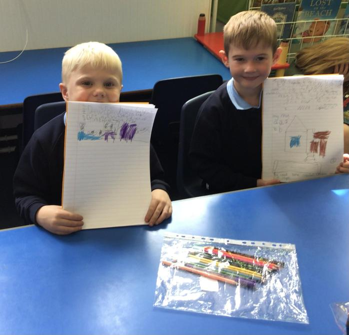 Seth and Samuel enjoyed writing about their adventures over the Summer holiday.