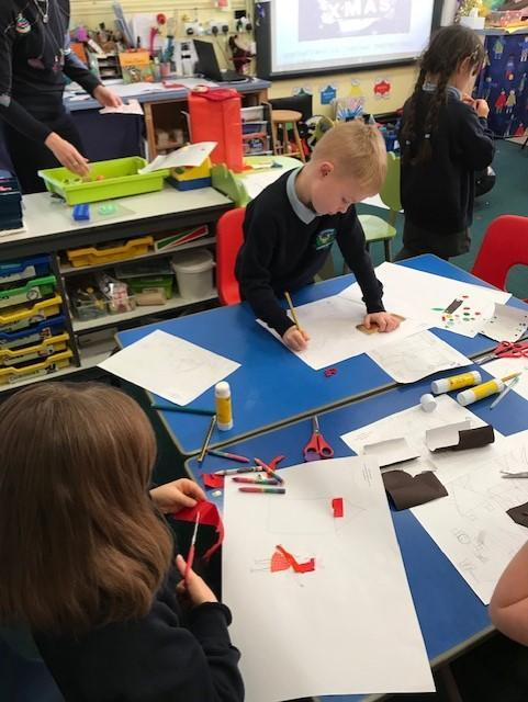 Dec - Making our Great Fire of London Pics