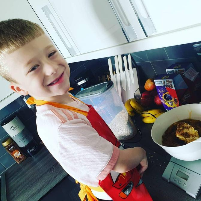 Zac has been busy baking at home...yum!