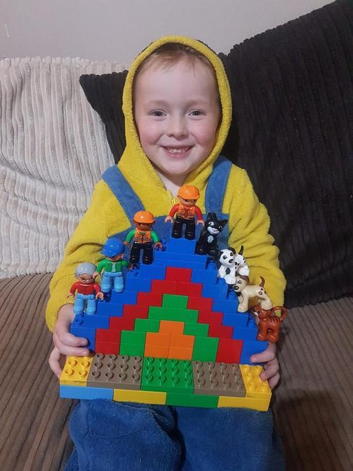 Super Lego rainbow Brody!