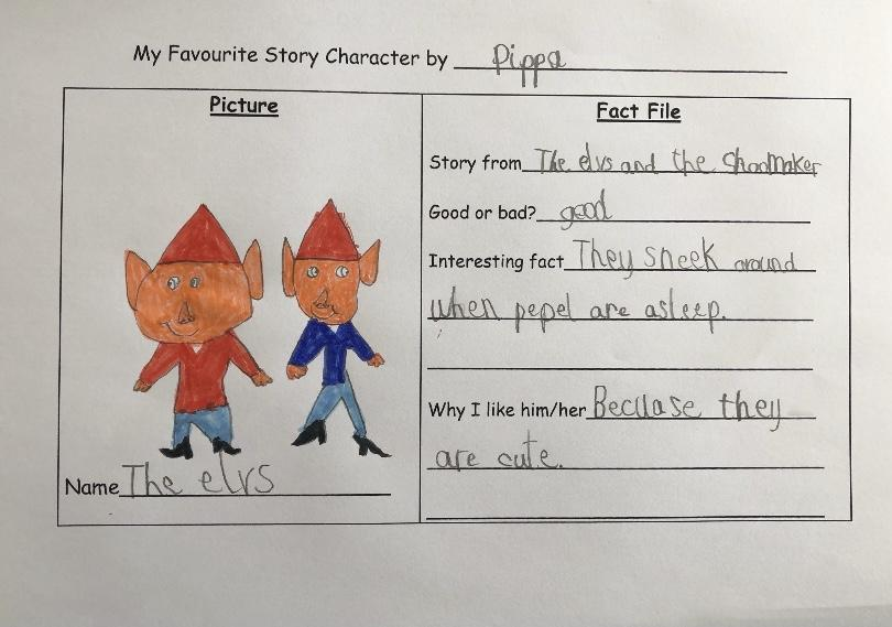 Pippa's favourite book characters.