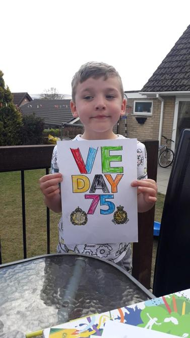 William's VE Day celebration