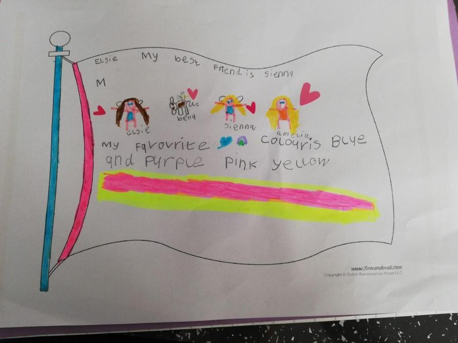 Elsie's lovely flag!