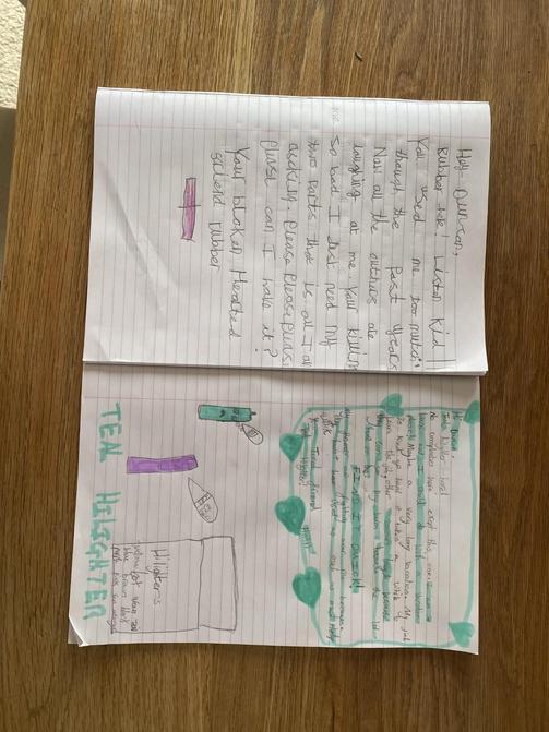 Olivia and Sophia's literacy