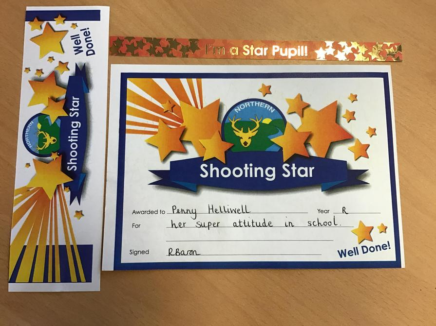 Well done to our Shooting Star this week  17.9.21