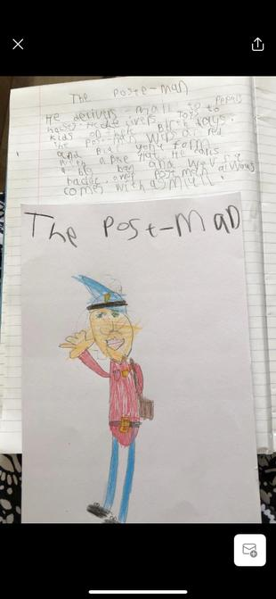 A great labelled postman from Sam.