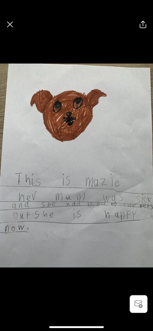 Isabel's animal writing.