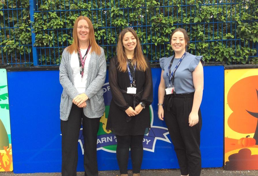 From left to right: Miss Nuttall; Mrs Baron; Miss Birkett