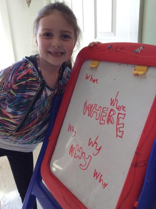 Lovely spelling work Harriet!