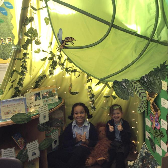 The reading corner is an ideal place to relax with a good book.