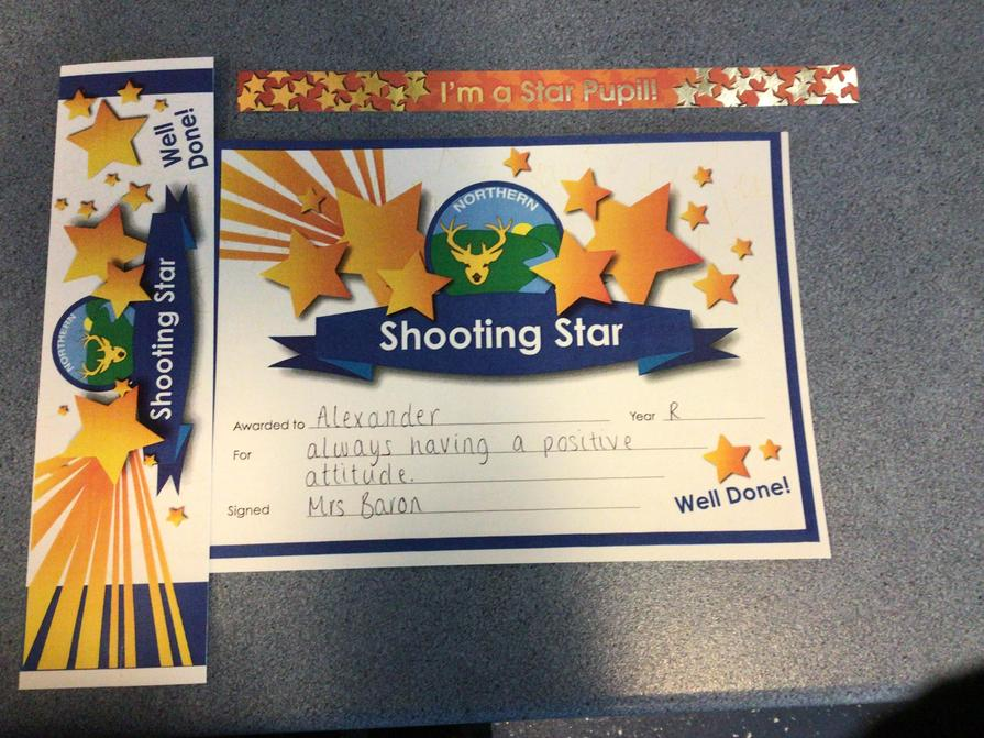 Well Done to our Shooting Star this week