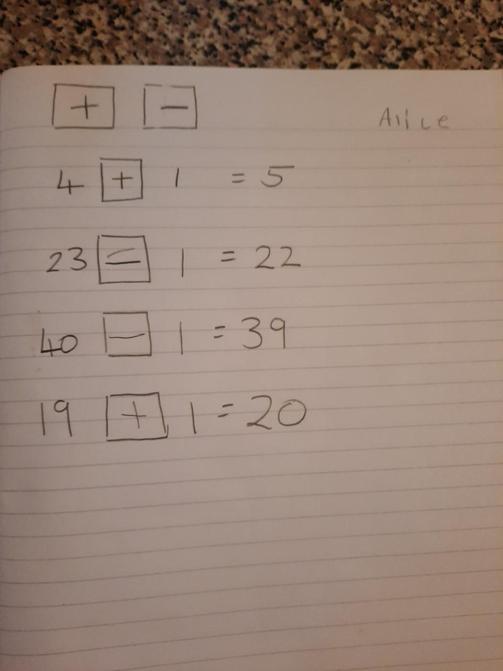Alice's challenge