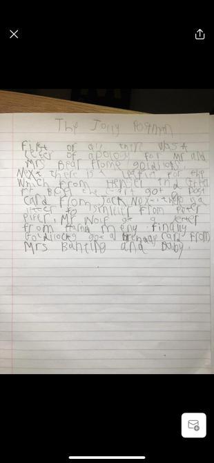 Sam's apology letter.