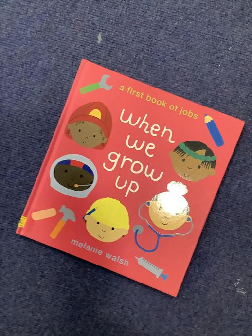 We read our story and thought about what we might like to be when we grow up.