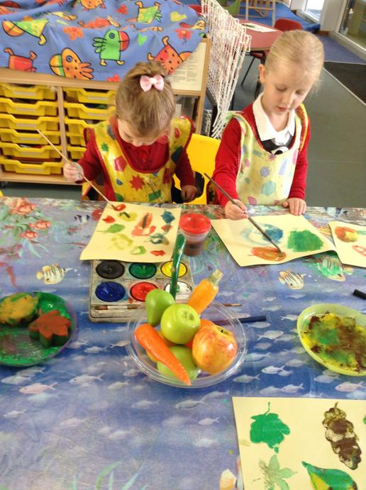 We did some observational painting
