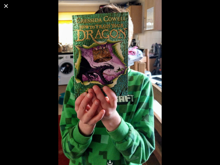 Jack loved receiving his new book in the post for being our first 1,000,000 word reader
