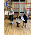 Prize winners for achieving the most points in the Summer Reading Challenge