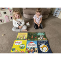 Abigail and Charlotte have read a huge number of books and achieved over 500 points