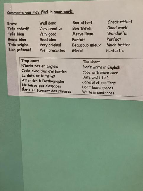 Feedback in French!