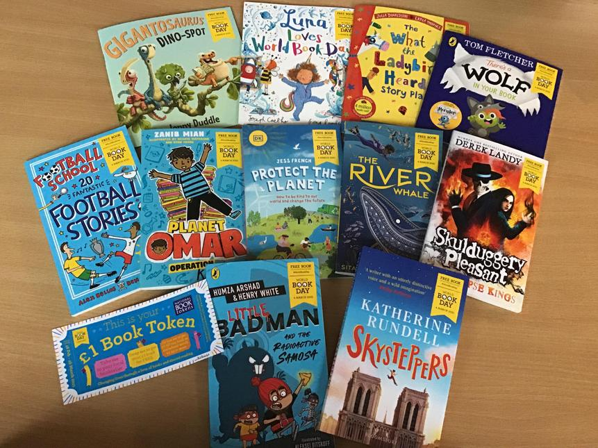 Some great World Book Day books this year. They cost £1.00 or free with a book token