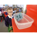 The paper towel boat absorbed the water and sank!