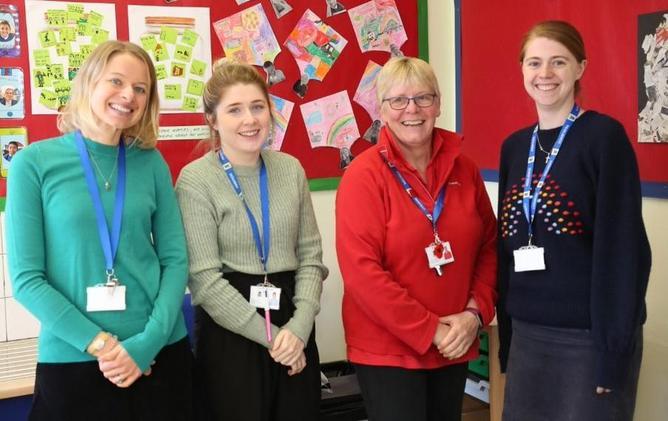 Mrs Nunn, Miss James, Mrs King and Miss Milton
