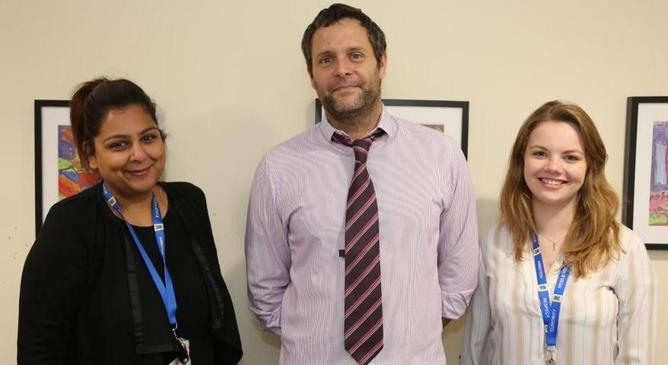 Mrs Damani-Tank, Mr Horsburgh and Miss Feldmanis