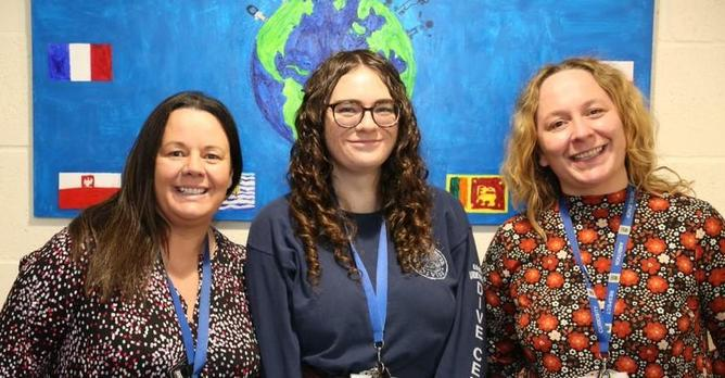 Mrs Stafford-Carroll, Miss Wells and Mrs Roughton