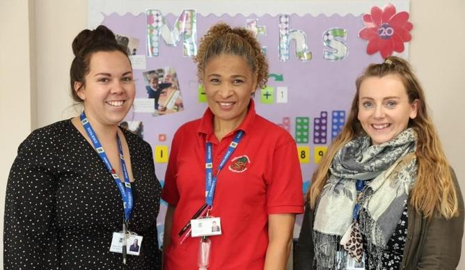 Miss Simmons, Ms Mitchell and Miss Edmonds