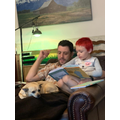 Reading with dad!