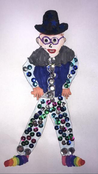 A sparkly Mr Macinnes by Charlie