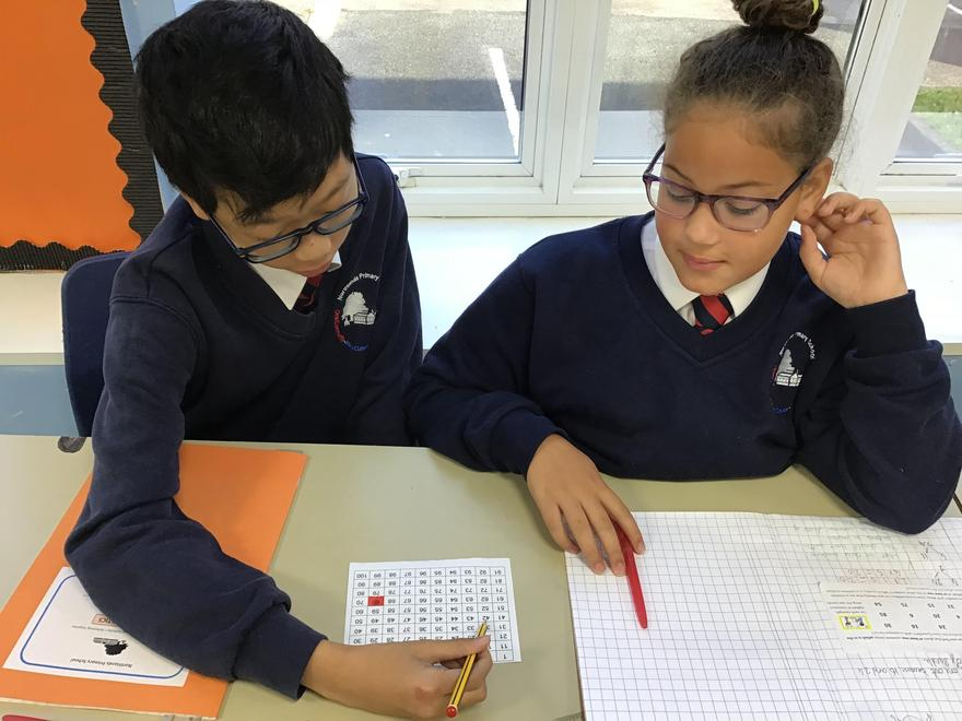 Year 6 played a game of factors and multiples.