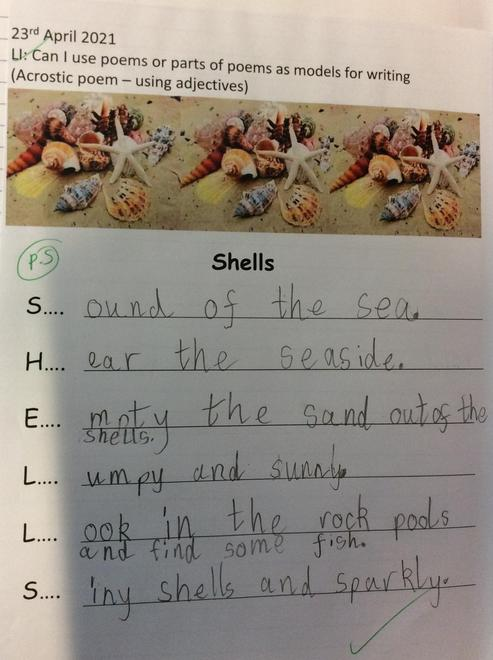 Acrostic poems are fun! like a list going down!
