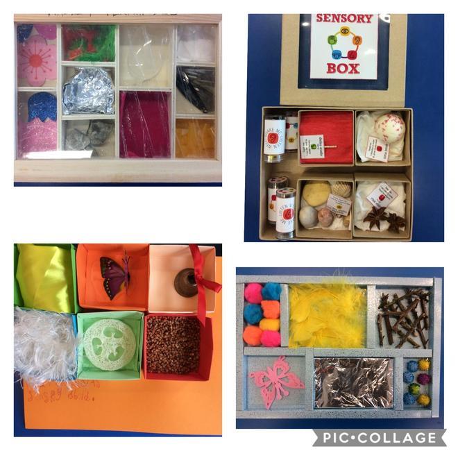 Fantastic sensory boxes