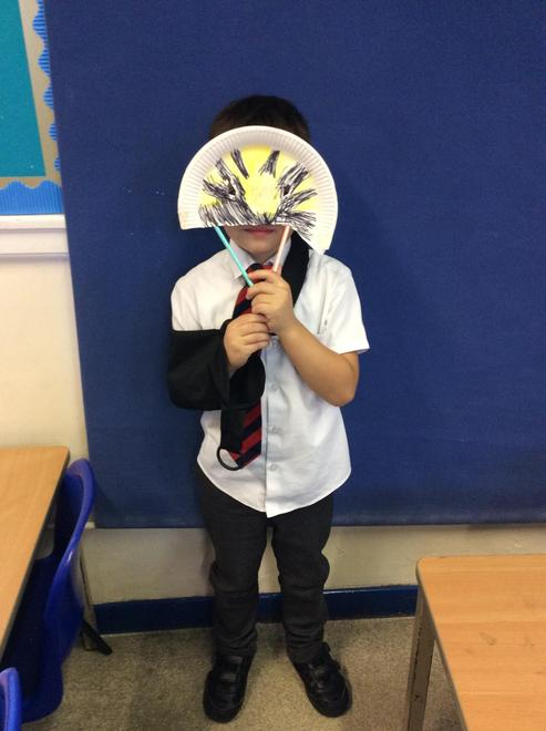 Today we made masks to celebrate Carnival