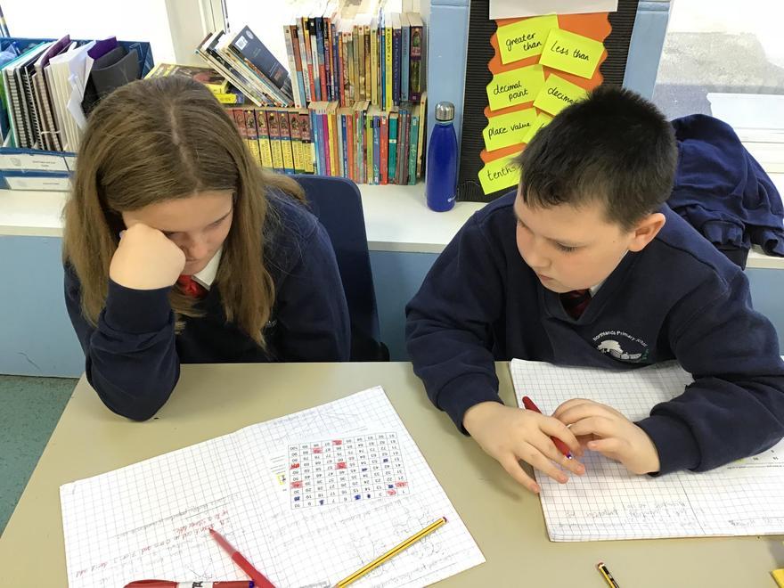 The children used stem sentences to practise their verbal reasoning skills.