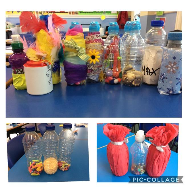 Interesting sensory bottles