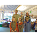 Teachers and Children experiencing Viking dress.