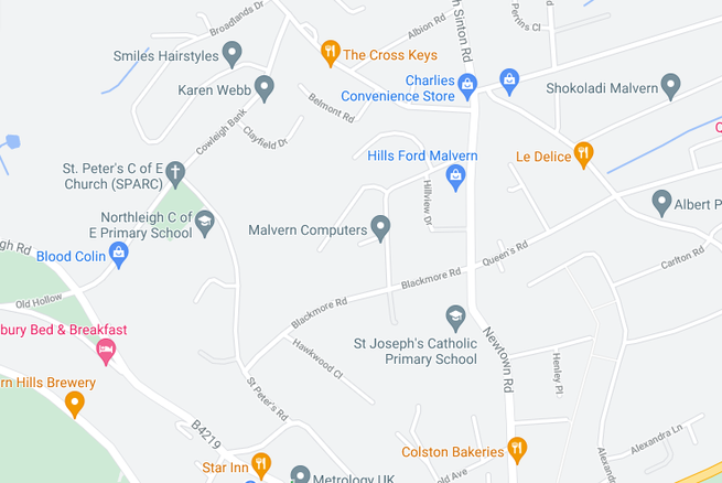 A map of our school - WR14 1QS