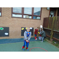 Shooting tricky words with water pistols