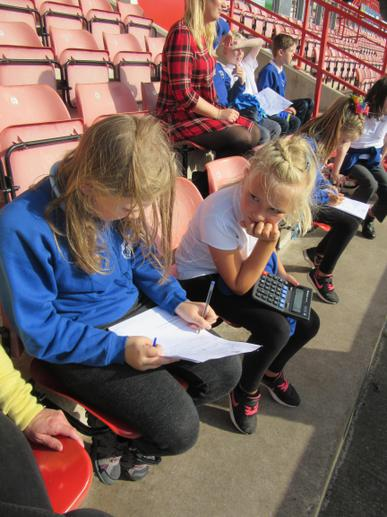 Maths problem solving in the stands