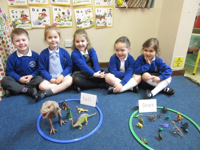 We had fun sorting the dinosaurs.