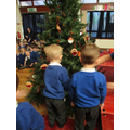 It was lovely to hang our special decorations.