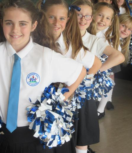 Cheerleaders at Festival of Sport May 2016
