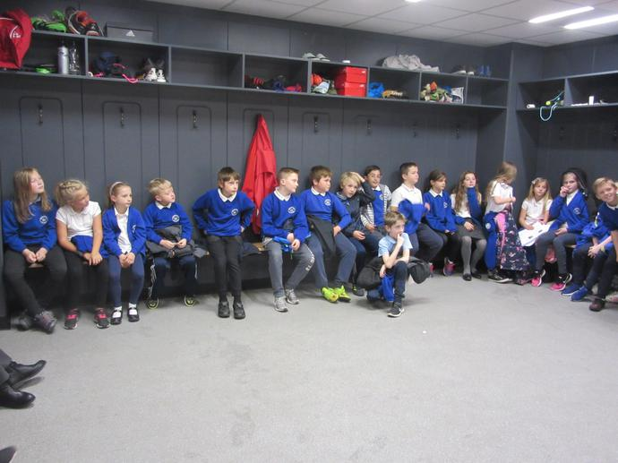 Visiting the home team changing rooms