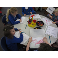 Tracing and colouring Welsh flags.