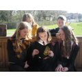 Some Year 6 pupils read Harry Potter